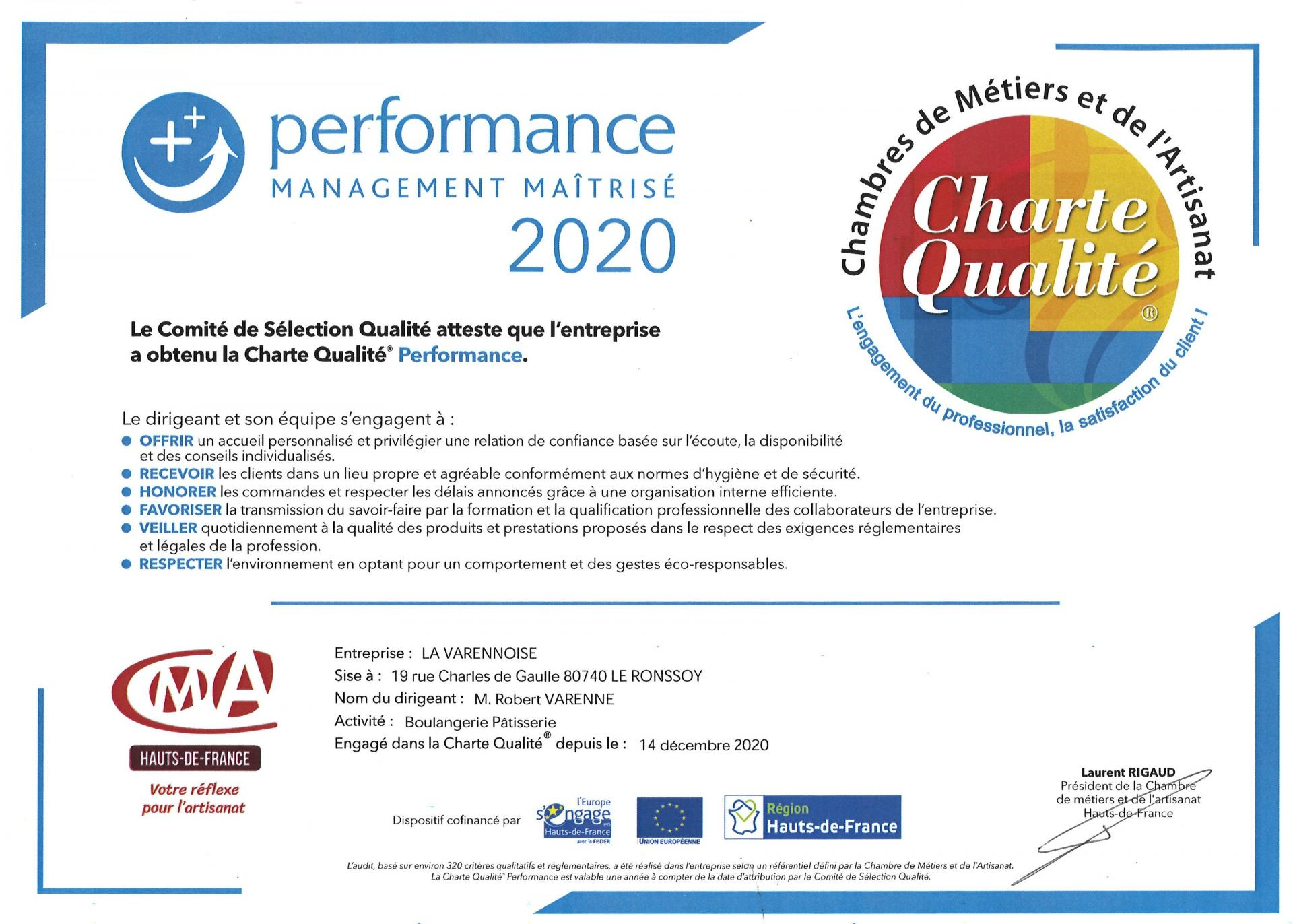Charte Qualité 2020