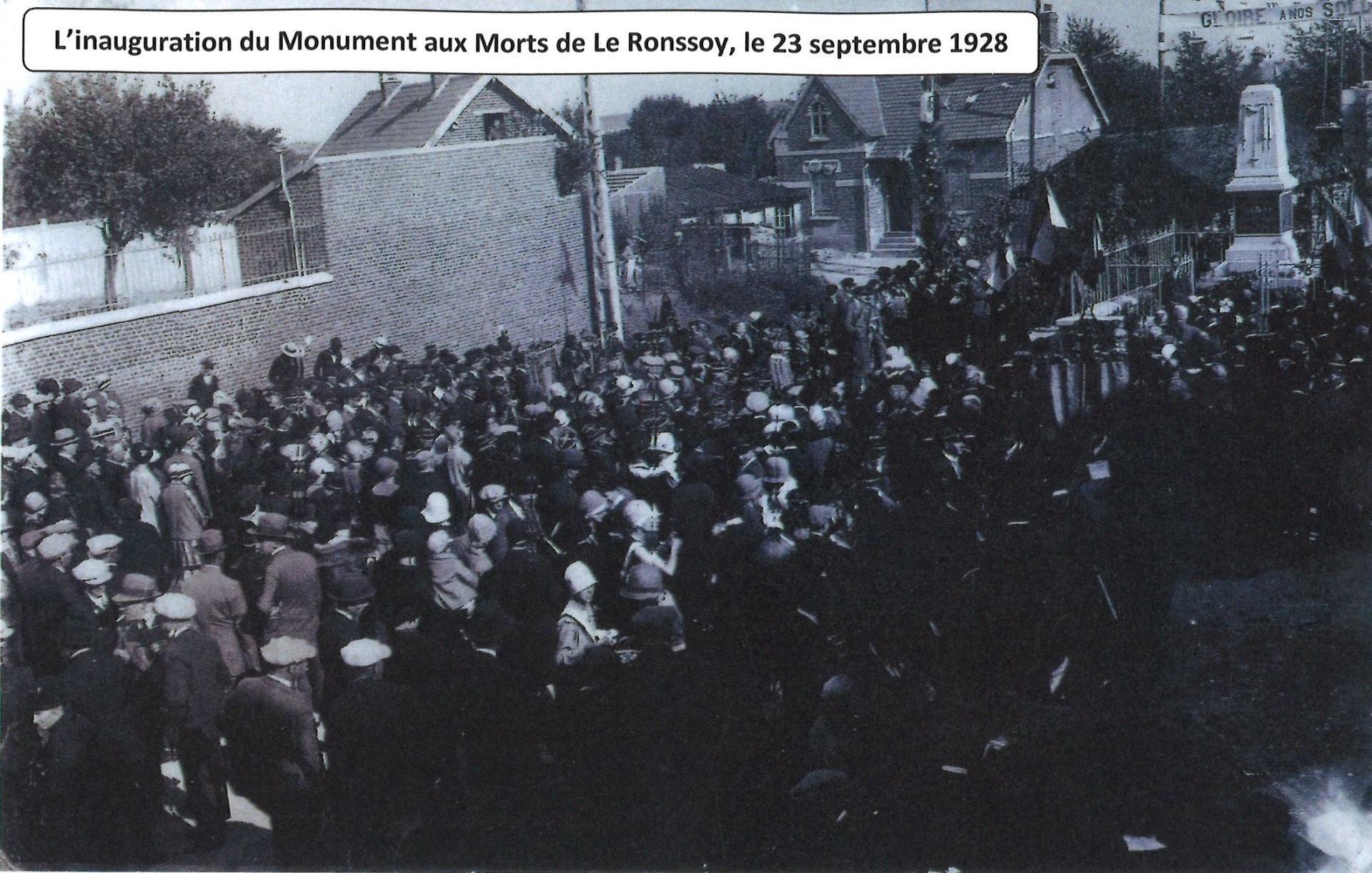 Inauguration le 23 septembre 1928 avec date dessus
