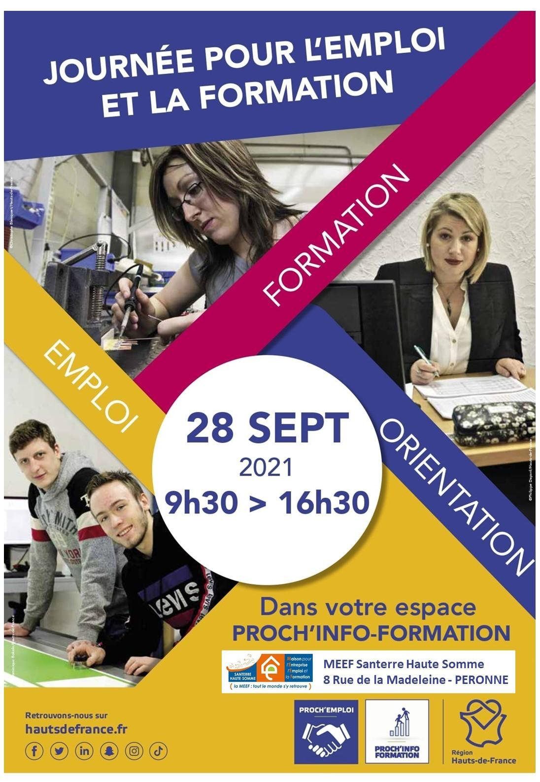 Journée pour l'emploi et la formation à Péronne 28 septembre 2021