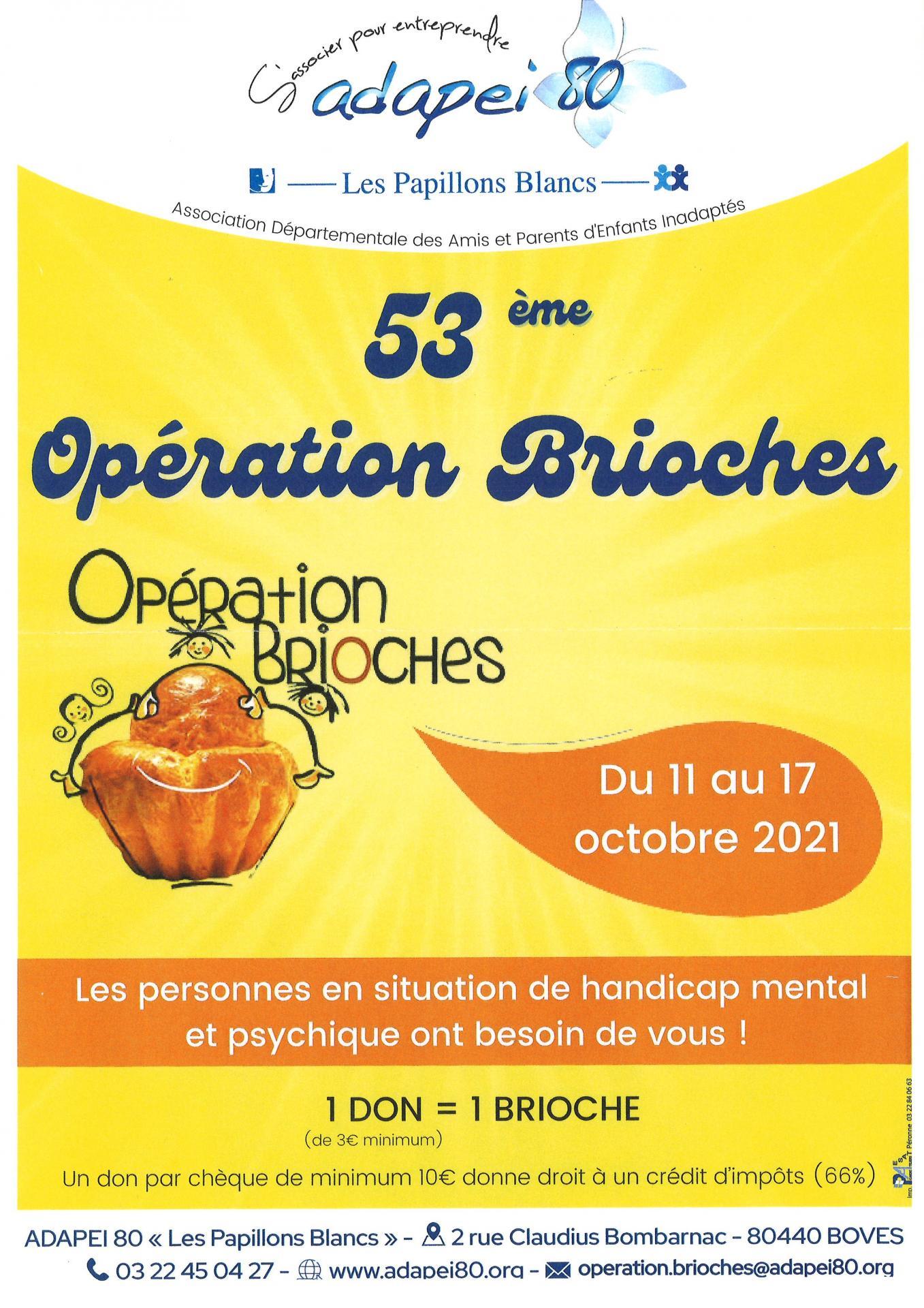 Opérations brioches 2021