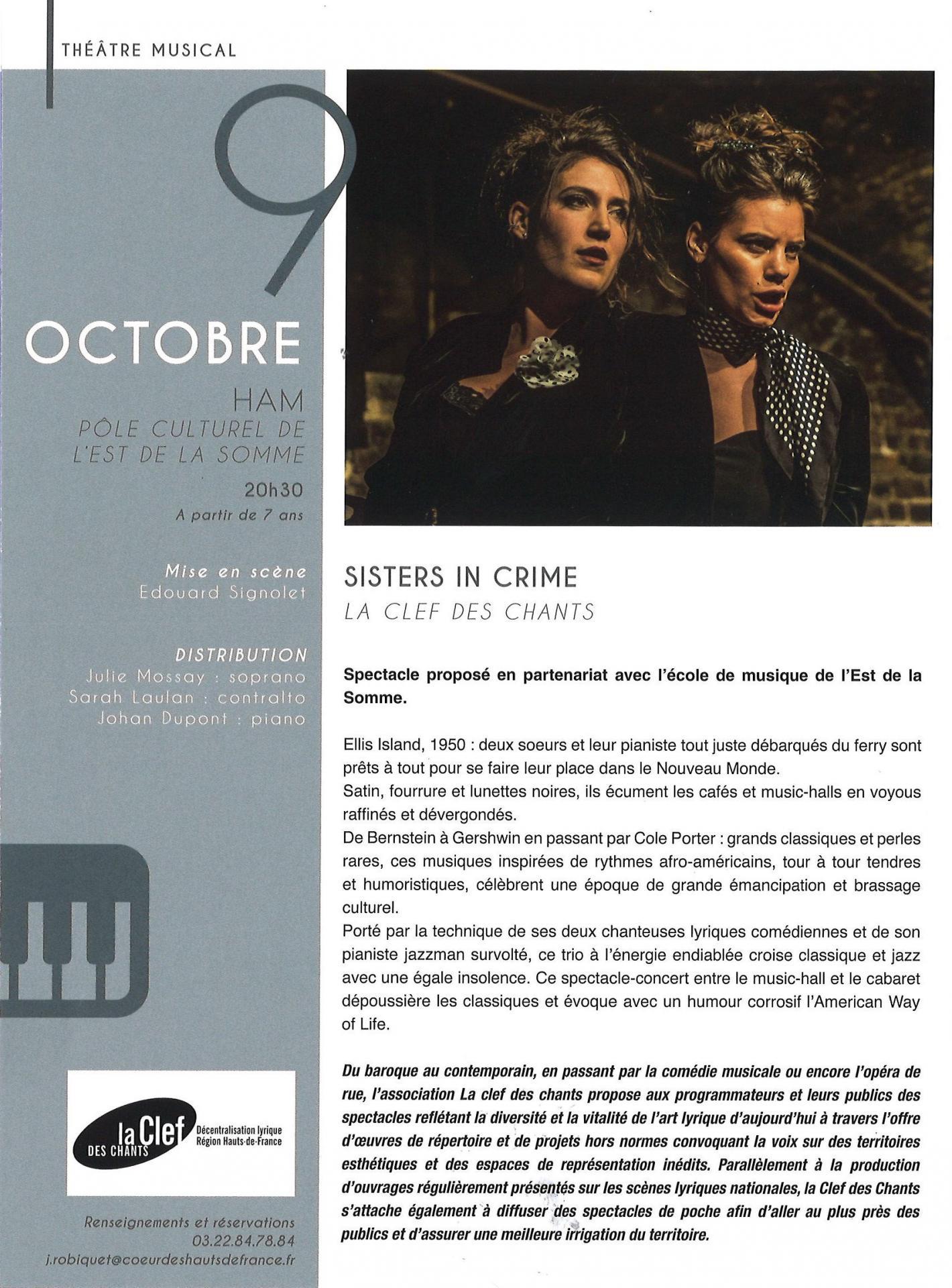 Théâtre musical 9 octobre 2021